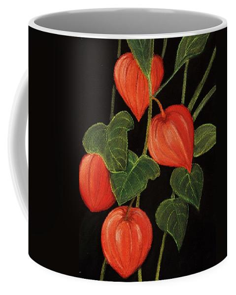 Plant Coffee Mug featuring the painting Physalis by Anastasiya Malakhova