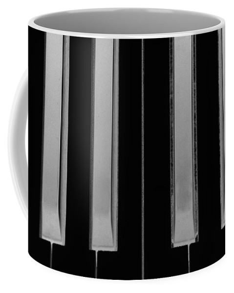 Piano Coffee Mug featuring the photograph Piano Keys In Negative by Rob Hans
