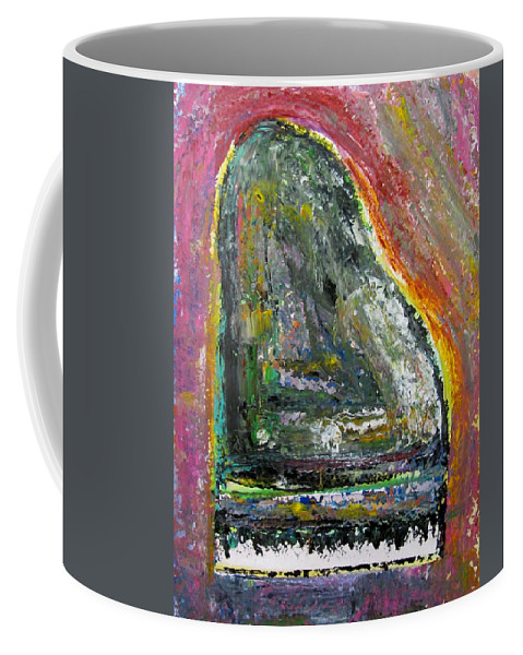 Impressionist Coffee Mug featuring the painting Piano Red by Anita Burgermeister