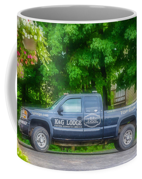 Pick Up Truck Coffee Mug featuring the painting Pick Up Truck 2 by Jeelan Clark
