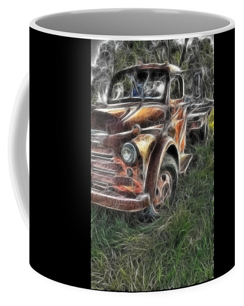 Pickup Truck Coffee Mug featuring the photograph Pickup 2467 by Timothy Bischoff