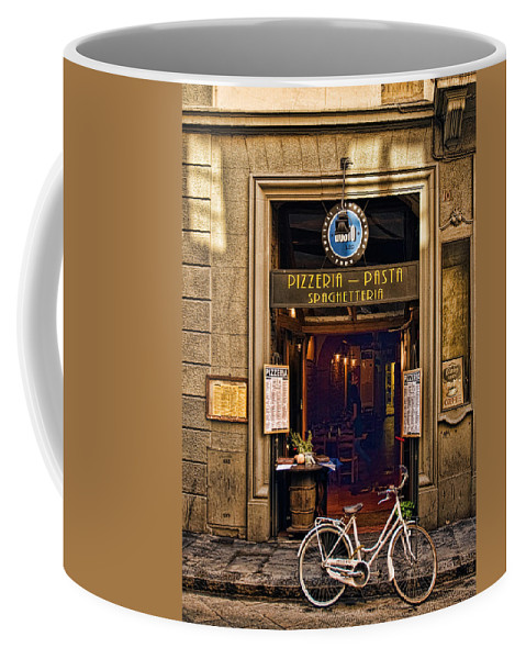 Florence Coffee Mug featuring the photograph Pickup Or Delivery by Mick Burkey