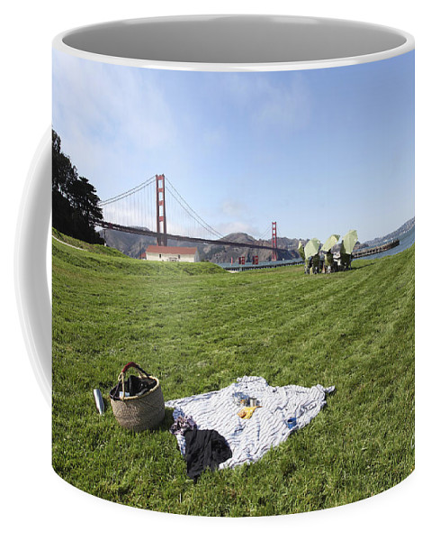 Carefree Coffee Mug featuring the photograph Picnicking At Golden Gate Park by Gal Eitan