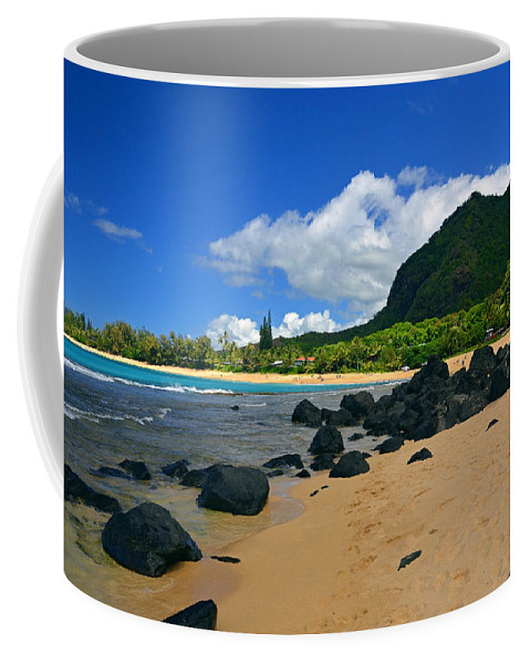 Hawaii Coffee Mug featuring the photograph Picture Perfect Haena Beach by Marie Hicks
