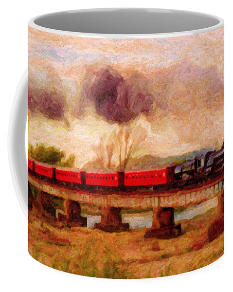 Poster Coffee Mug featuring the digital art Picture Postcard by Chuck Mountain