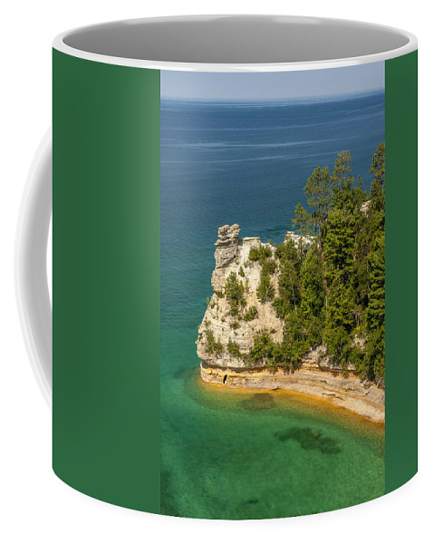 Pictured Rocks National Lakeshore Coffee Mug featuring the photograph Pictured Rocks National Lakeshore by Sebastian Musial