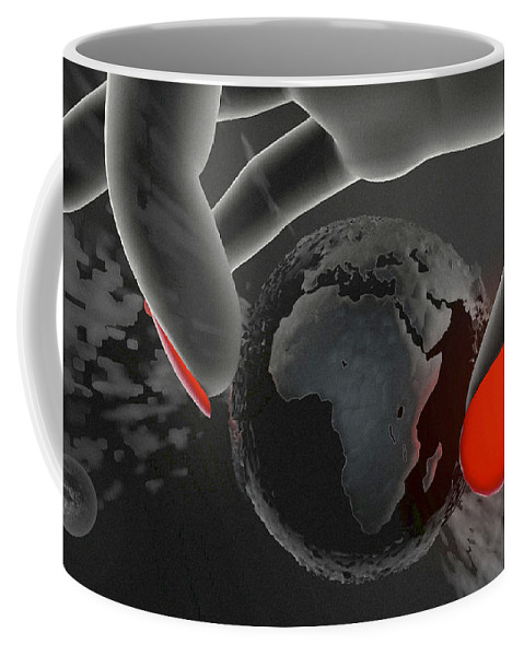 World Coffee Mug featuring the digital art Piece Of Earth by Eric Nagel