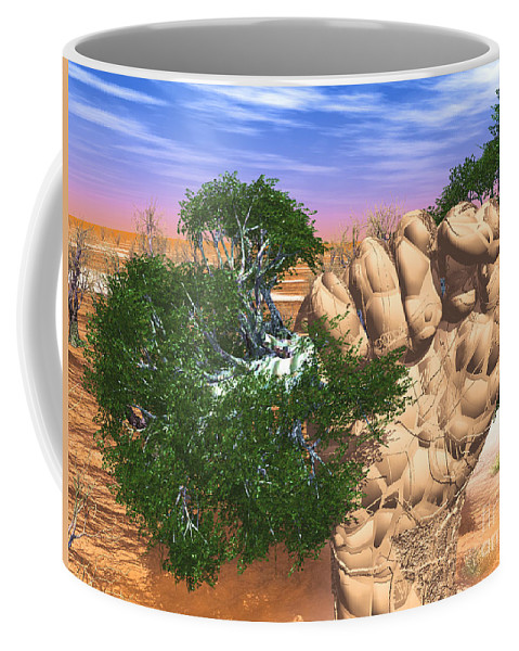 Nature Coffee Mug featuring the digital art Piece Of Wasteland by Eric Nagel