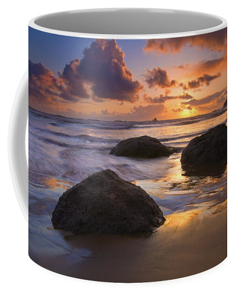 Sunset Coffee Mug featuring the photograph Pieces Of Eight by Mike Dawson