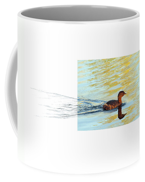 Pied-billed Grebe Coffee Mug featuring the photograph Pied-billed Grebe by Andrew McInnes