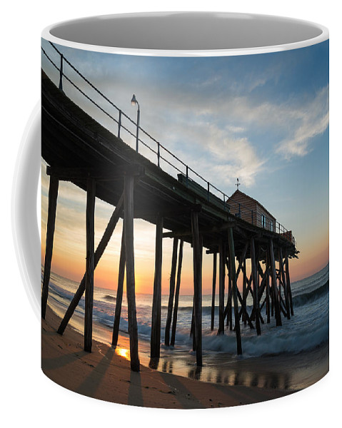New Jersey Coffee Mug featuring the photograph Pier Side by Kristopher Schoenleber