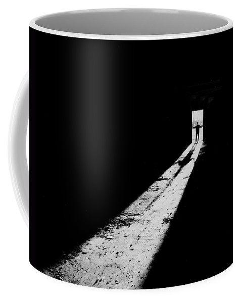 Shadows Photograph Coffee Mug featuring the photograph Piercing The Darkness by Jim Garrison