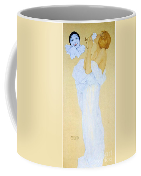Pd Coffee Mug featuring the painting Pierrot's Dream by Pg Reproductions