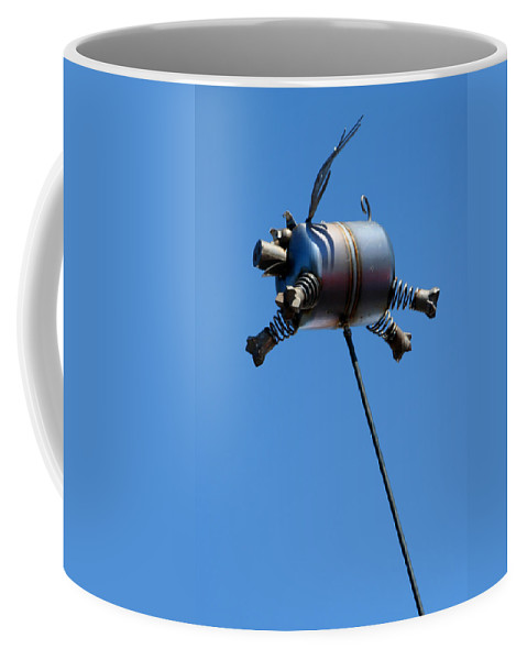 Humor Coffee Mug featuring the photograph Pigs Fly by Joe Kozlowski
