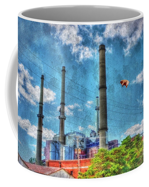 Abandoned Coffee Mug featuring the photograph Pigs On The Wing Revisited by Dan Stone
