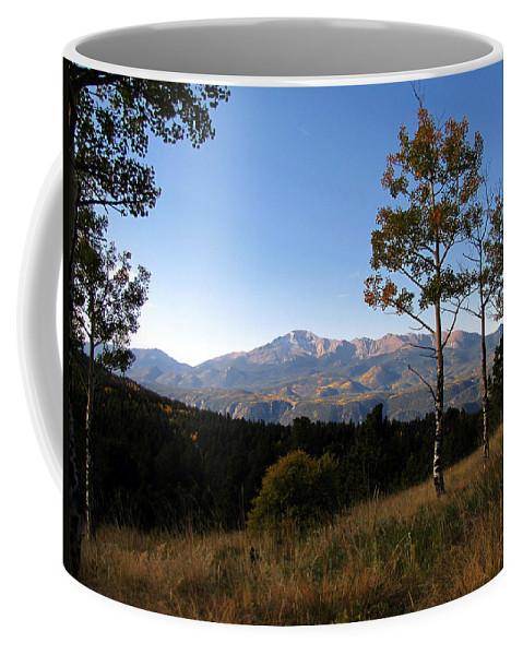 Pikes Peak Coffee Mug featuring the photograph Pikes Peak Landscape by Carol Milisen