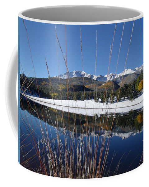 Pikes Peak Coffee Mug featuring the photograph Pikes Peak Through The Grass by Carol Milisen