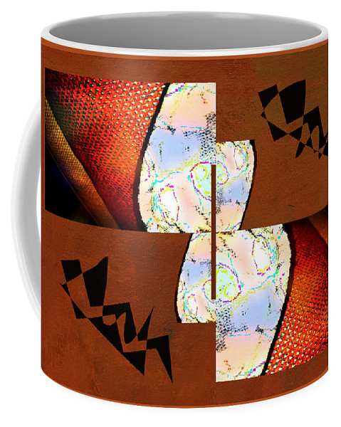 Abstract Coffee Mug featuring the photograph Pillow Talk by Linda Dunn