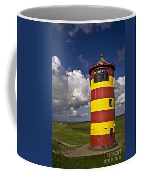 Heiko Coffee Mug featuring the photograph Pilsum Lighthouse by Heiko Koehrer-Wagner