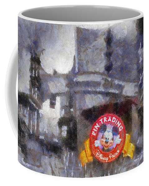 Disney Coffee Mug featuring the photograph Pin Traders Downtown Disneyland Photo Art by Thomas Woolworth