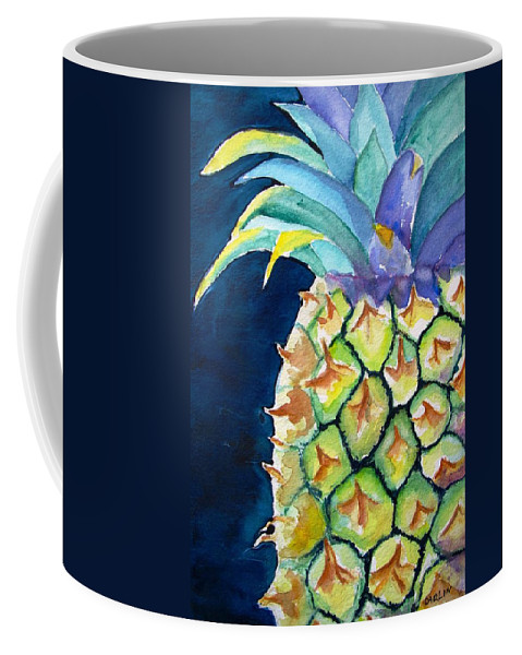 Pineapple Coffee Mug featuring the painting Pineapple by Carlin Blahnik CarlinArtWatercolor