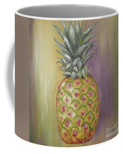 Pineapple Painting Coffee Mug featuring the painting Pineapple by Graciela Castro