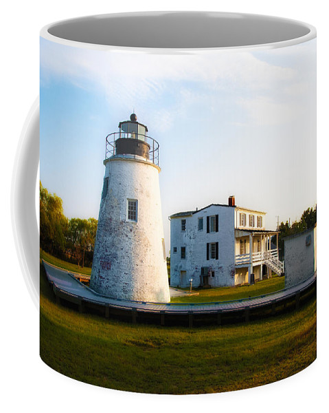 Piney Coffee Mug featuring the photograph Piney Point Maryland by Bill Cannon