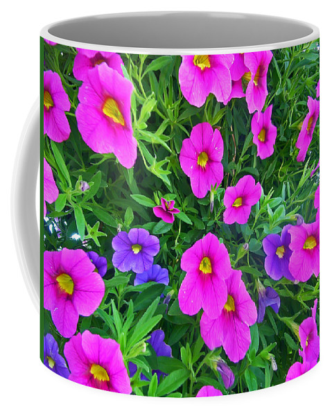 Petunia Coffee Mug featuring the photograph Pink And Purple Petunias by Aimee L Maher ALM GALLERY