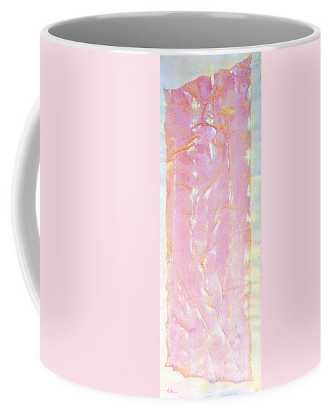 Abstract Painting Coffee Mug featuring the painting Pink Angel Softly Passing by Asha Carolyn Young