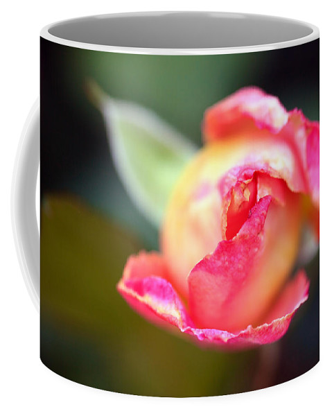 Bumble Bee Coffee Mug featuring the photograph Pink Bud by Sennie Pierson
