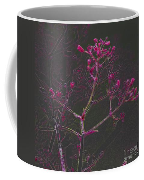 Pink Coffee Mug featuring the digital art Pink Flowers by Carol Lynch