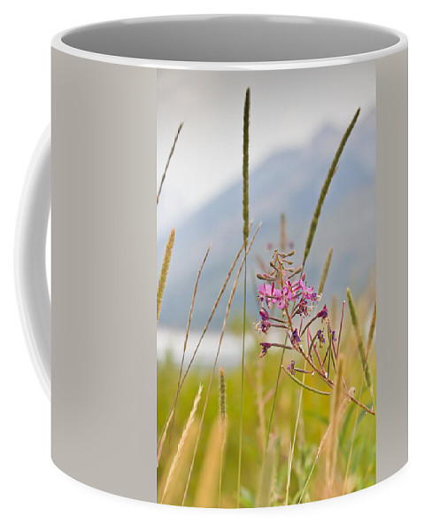 Fire Weed Coffee Mug featuring the photograph Pink Gem - Fire Weed Wildflower In Grand Teton National Park - Wyoming by Diane Mintle