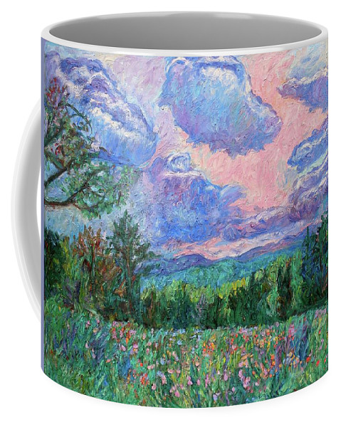 Kendall Kessler Coffee Mug featuring the painting Pink Light by Kendall Kessler