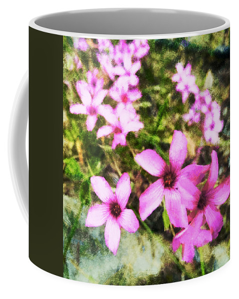 Pink Coffee Mug featuring the digital art Pink Propellers by Steve Taylor