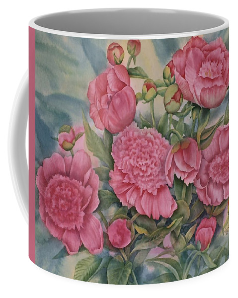 Pink Splendour Coffee Mug featuring the painting Pink Splendor by Heather Gallup