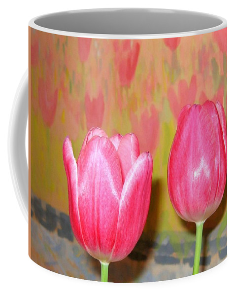 Pink Tulips Coffee Mug featuring the photograph Pink Tulips by Will Borden