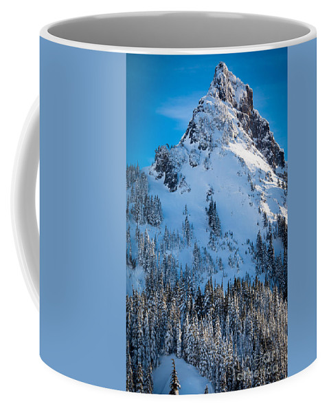 America Coffee Mug featuring the photograph Pinnacle Peak Winter Glory by Inge Johnsson