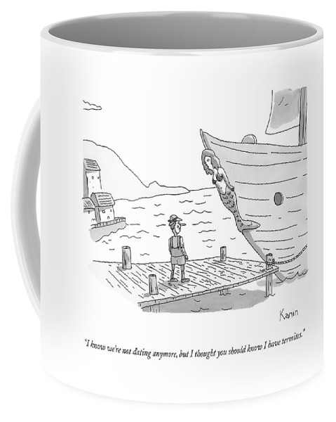 Std Coffee Mug featuring the drawing Pinocchio Addresses The Wooden Mermaid by Zachary Kanin