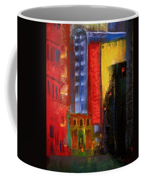 Pastels Coffee Mug featuring the painting Pioneer Square Alleyway by David Patterson