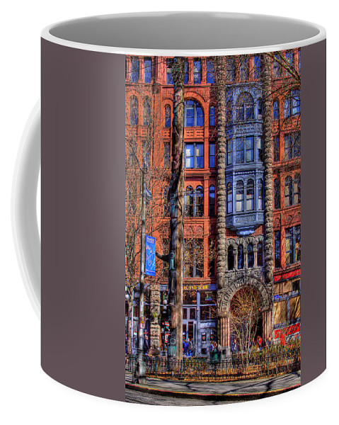 Pioneer Square Seattle Coffee Mug featuring the photograph Pioneer Square No.1 by David Patterson
