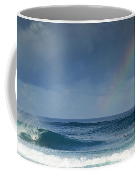Rainbow Coffee Mug featuring the photograph Pipe At The End Of The Rainbow by Sean Davey