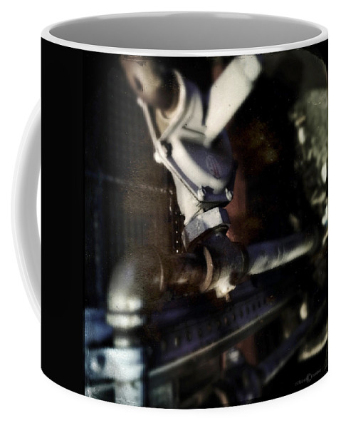 Abstract Photo Coffee Mug featuring the photograph Pipes by Tim Nyberg