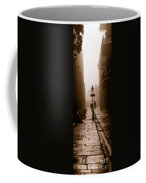 Pirate's Alley Coffee Mug featuring the photograph Pirate's Alley New Orleans by Mike Nellums