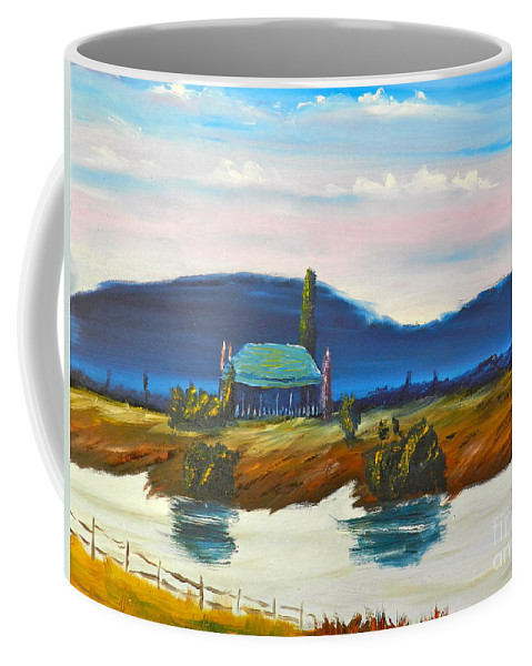 Impressionist Coffee Mug featuring the painting Pittown by Pamela Meredith