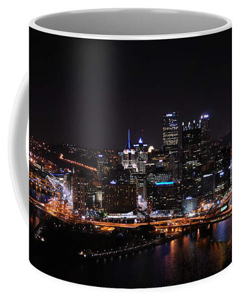 City Coffee Mug featuring the photograph Pittsburgh At Night by Cyril Furlan