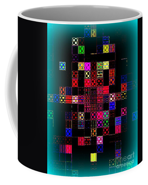 Abstract Coffee Mug featuring the photograph Pixel Quilt by Miriam Danar