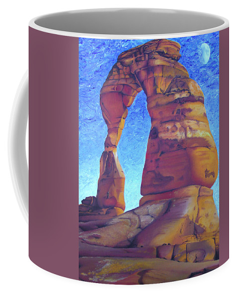 Moab Coffee Mug featuring the painting Place Of Power by Joshua Morton