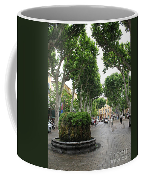 Plane Coffee Mug featuring the photograph Plane Alley - Aix En Provence by Christiane Schulze Art And Photography