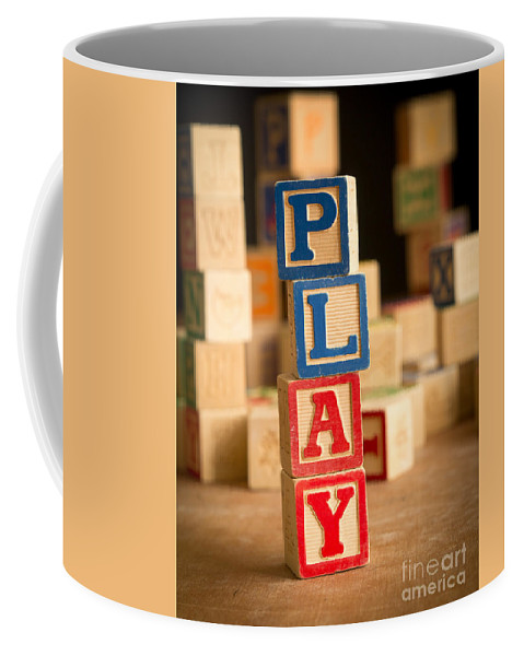 Abs Coffee Mug featuring the photograph Play - Alphabet Blocks by Edward Fielding