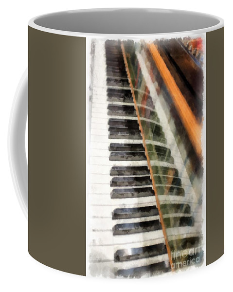 Piano Coffee Mug featuring the photograph Play It Again Sam by Edward Fielding
